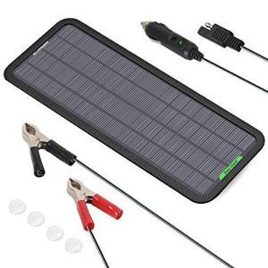 「2020年7月バージョンアップ」ソーラーバッテリーチャージャー ALLPOWERS ソーラーバッテリー充電器 5W 12V 18V 単結晶|thanks-tuhan