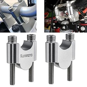 kemimoto ハンドルポスト 30mmアップ バイク ハンドルスペーサー 汎用 7/8インチ φ22mm/22.2mmバー ハンドルバー|thanks-tuhan