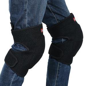 【Ludus Felix】ひざ当てパッド 膝当て ひざパッド ヒザプロテクター ひざパット 作業用 2個セット (ブラック, L) thanks-tuhan