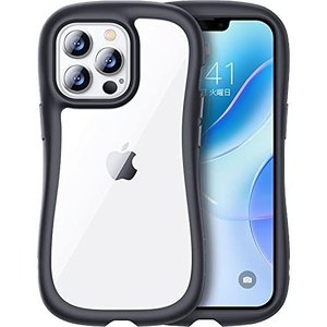 TORRAS Sライン iPhone 13 Pro 用 ケース 米軍MIL規格 超耐衝撃 持ち易い 超クリア 20倍黄変防止 割れない 流線 thanks-tuhan