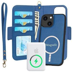 Skycase iPhone 13 ケース 6.1インチ [MagSafe対応] ワイヤレス充電 MagSafeバッテリーパック 高級PUレ thanks-tuhan