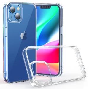 NIMASO ケース iPhone 13 iPhone13 用 カバー 背面 強化 ガラス バンパー TPU クリア カバー 6.1インチ用 thanks-tuhan