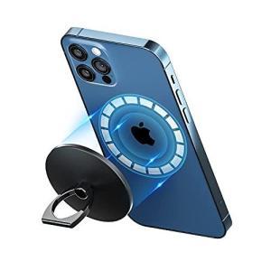enGMOLPHY マグネット式フィンガーリングホルダー, iPhone 12シリーズMagSafe対応マグネットリングスタンド,180度 thanks-tuhan