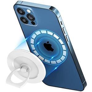【最新ミルクホワイト】 enGMOLPHY 磁石リングスタンド MagSafe 対応, iPhone 12マグセーフ対応マグネットスマホ フ thanks-tuhan