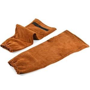 溶接スリーブ 溶接用アームカバー 腕カバー 耐熱 防炎 火の粉防止 保護スリーブ 男女兼用 1ペア入り (ブラウン) thanks-tuhan