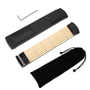 【2021年お正月スペシャル】ポケットギター、ポータブルポータブルギター、左手用トレーニングツール初心者プロのギタリストのためのコンパクトな|thanks-tuhan