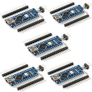 HiLetgo? 5個セット Mini USB Nano V3.0 ATmega328P CH340...