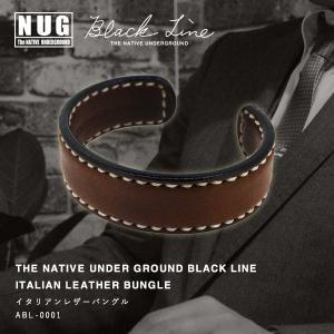 【NUG BLACK LINE】イタリアンレザーバングル / メンズモデル ハンドクラフト 本革|thcraft-official