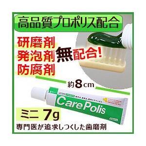 歯磨き粉 研磨剤不使用 プロポリス配合 ケアポリス 7g|thd