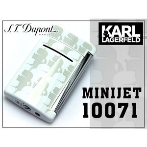 S.T.Dupont MINI JET by KARL LAGERFELD エス テー デュポン ターボガスライター ホワイト×アイボリー 10071 the-article