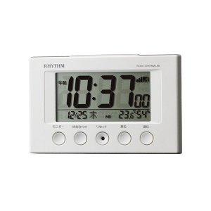 リズム RHYTHM フィットウェーブスマート 電波目覚まし時計 クロック 商品仕様:(約)H77×...