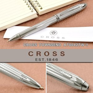 CROSS クロス TOWNSEND タウンゼント ボールペン 油性 プラチナ AT0042TW-1|the-article