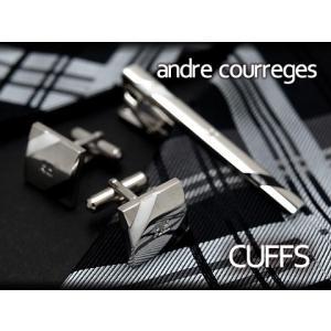 andre courreges アンドレ・クレージュ カフス ブラック×ホワイト ボーダー CC6005A ネコポス不可 the-article