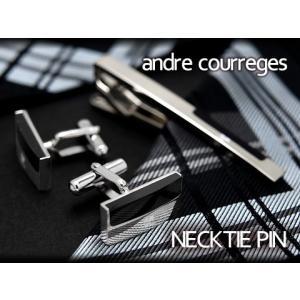 andre courreges アンドレ・クレージュ ネクタイピン ブラック CT4006B ネコポス不可|the-article