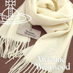 Vivienne Westwood ヴィヴィアンウエストウッド マフラー レディース ロゴマフラー 無地 ホワイト VV-A401-WHITE【ネコポス不可】|the-article