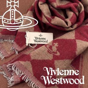 Vivienne Westwood ヴィヴィアンウエストウッド ストール レディース ハーリキンチェック柄 レッド キャメル VV-H204-RDCA【ネコポス不可】|the-article