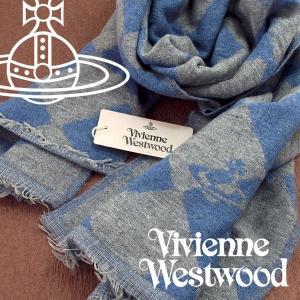 Vivienne Westwood ヴィヴィアンウエストウッド ストール レディース ハーリキンチェック柄 ライトブルー グレー VV-K208-BLGR【ネコポス不可】|the-article