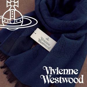 Vivienne Westwood ヴィヴィアンウエストウッド ストール レディース オーブロゴ柄 ダークブルー VV-K209-DBL【ネコポス不可】|the-article