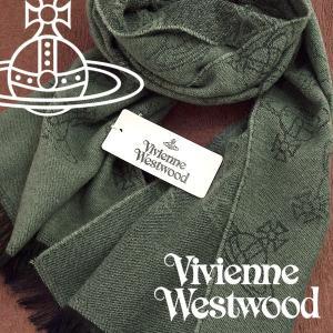Vivienne Westwood ヴィヴィアンウエストウッド ストール レディース オーブロゴ柄 グリーン VV-M201-GREEN【ネコポス不可】|the-article