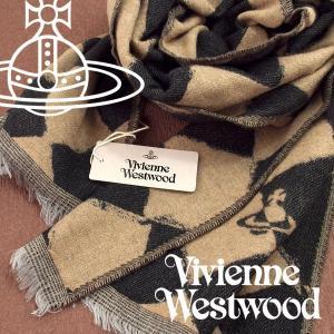 Vivienne Westwood ヴィヴィアンウエストウッド ストール レディース ハーリキンチェック柄 ブラック ベージュ VV-N206-BKBE【ネコポス不可】|the-article