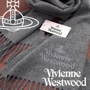 Vivienne Westwood ヴィヴィアンウエストウッド マフラー レディース ロゴマフラー 無地 ライトグレー VV-P401-LIGHTGREY【ネコポス不可】|the-article