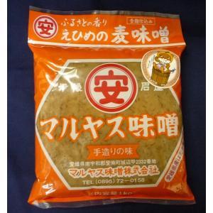 マルヤス味噌 麦みそ 1kg まとめ買い(×6)|the-fuji-food