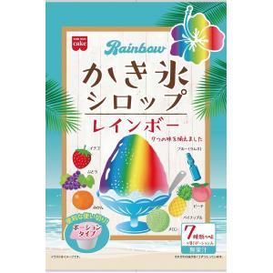共立食品 レインボーかき氷シロップ 7種入り まとめ買い(×6)|the-fuji-food