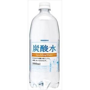 サンガリア 炭酸水 1L まとめ買い(×12)|the-fuji-food