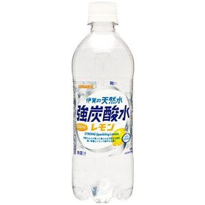 サンガリア 伊賀の天然水強炭酸水レモン 500ml まとめ買い(×24)|the-fuji-food