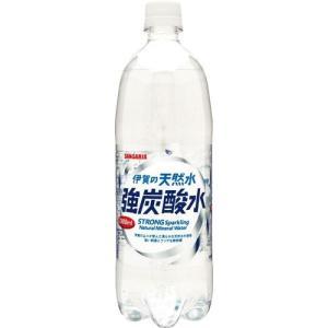 サンガリア 伊賀の天然水強炭酸水 1000ml まとめ買い(×12)|the-fuji-food