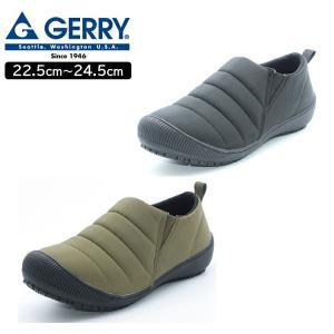 ジェリー GERRY レディース スリッポン シューズ 2E ブラック カーキ GR-5503N   アウトドア 22.5cm 23cm 23.5cm 24cm 24.5cm 燃えにくい キャンプ 滑りにくい the-fuji