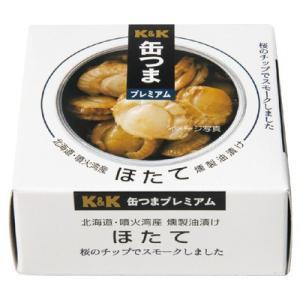 国分 缶つまプレミアム 北海道ほたて燻製油漬け ...の商品画像