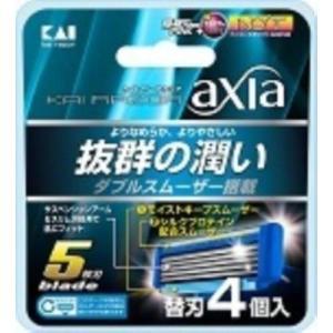 貝印 カイレザー アクシア 5枚刃 替刃 4個入り KAIRAZOR axia|the-fuji