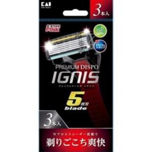貝印 プレミアムディスポ イグニス IGNIS 5枚刃 3本入り|the-fuji