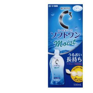 (4個セット)ロート製薬 Cキューブ ソフトワンモイスト 500ml ソフトレンズ用消毒液|まとめ買い|the-fuji