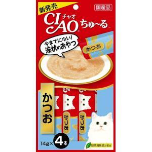 いなば チャオ ちゅ〜る かつお 14g×4本 CIAO ちゅーる 猫 おやつ|4901133716584(tc)|the-fuji