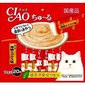 いなば チャオ ちゅ〜る まぐろ海鮮ミックス味 14g×20本 CIAO ちゅーる 猫 おやつ|4901133720376(tc)|the-fuji
