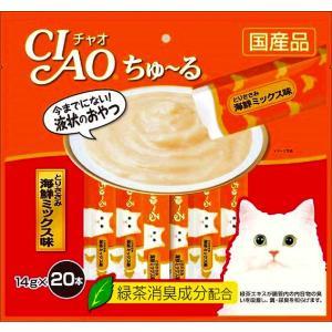 いなば チャオ ちゅ〜る とりささみ海鮮ミックス味 14g×20本 CIAO ちゅーる 猫 おやつ|4901133720383(tc)|the-fuji