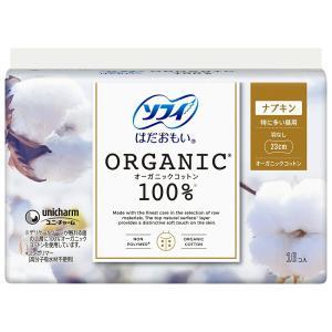 (24個セット)ユニチャーム ソフィ はだおもい オーガニックコットン100% 特に多い昼用 羽なし 16コ入 ナプキン まとめ買い|the-fuji