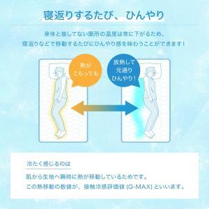 【処分価格】超接触冷感敷きパッド(QMAX0.5) シングル 100x200cm 抗菌防臭綿使用|the-fuji|07