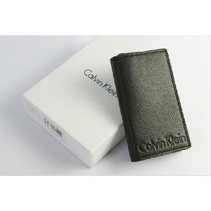 Calvin Klein カルバンクライン キーケース メンズ 本革 レザー ロゴ ブランド ブラック 型押し Men's|the-hacienda