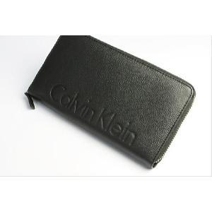 Calvin Klein カルバンクライン 財布 メンズ 長財布 本革 レザー ロゴ ブランド ブラック ラウンドファスナー さいふ サイフ Men's ウォレット|the-hacienda