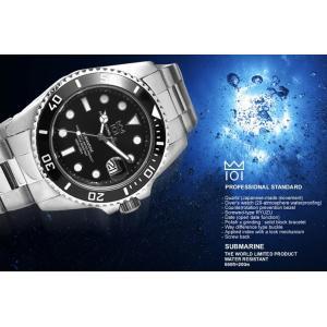 HYAKUICHI 20気圧防水 ダイバーズ メンズ 腕時計 サブマリン|the-hacienda