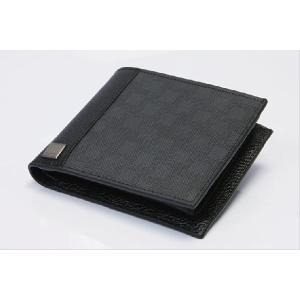 DUNHILL ダンヒル メンズウォレット 二つ折り財布 ダークグレー|the-hacienda