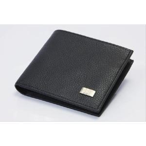 DUNHILL ダンヒル メンズウォレット 二つ折り財布 シボ加工 ブラック|the-hacienda