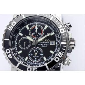 SEIKO セイコー アラーム クロノグラフ ダイバーズ 腕時計 SNA225|the-hacienda