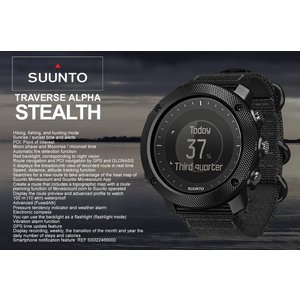 SUUNTO TRAVERSE ALPHA STEALTH SS022469000  ■素材 ベゼル...