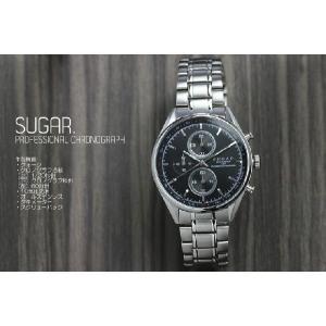SUGAR. 日本製ムーブメント クロノグラフ メンズ腕時計 ウォッチ 10気圧防水 the-hacienda