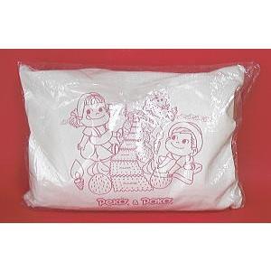 ●枕の大きさ:約30cm×約21cm  ちょうど、お子様が使うのにピッタリのサイズの「ペコちゃん&ポ...