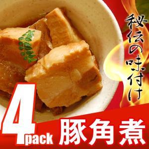 豚 角煮 丼の具 (4P) 【豚肉 丼 豚丼 豚バラ 角煮まんじゅう にも最適】|the-nikuya